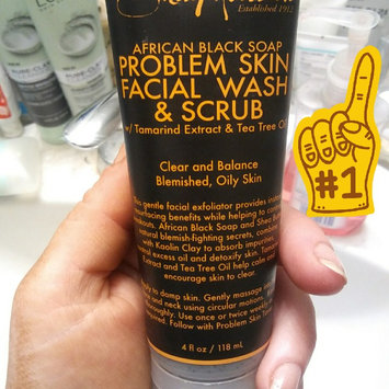 SheaMoisture African Black Soap Problem Skin Facial Wash & Scrub uploaded by Kristen L.