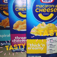 Kraft Macaroni & Cheese Mini-Shell Pasta Three Cheese uploaded by sarah a.