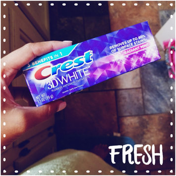 Crest 3D White Whitening Toothpaste Radiant Mint uploaded by Terrica K.