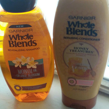 Photo of Garnier Whole Blends®  Illuminating Shampoo with Moroccan Argan and Camellia Oils Extracts uploaded by Maureen r.