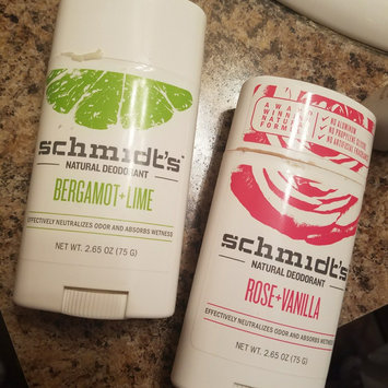 Photo of Schmidt's Bergamot + Lime Natural Deodorant uploaded by Michelle s.