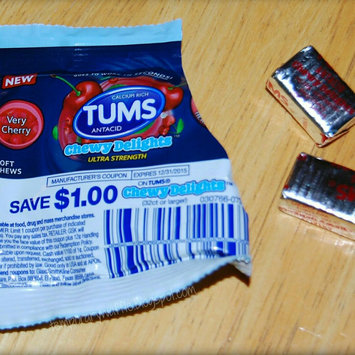 Photo of Tums Chewy Delights Cherry Calcium Soft Chews - 32 Count uploaded by Noùr S.