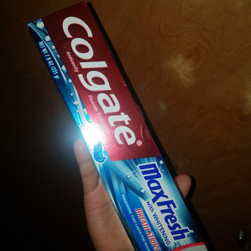 Photo of Colgate® MaxFresh® with WHITENING MINI BREATH STRIPS Toothpaste Cool Mint uploaded by Debbie H.