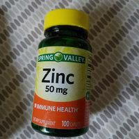 Spring Valley Zinc Supplement uploaded by Ashley R.
