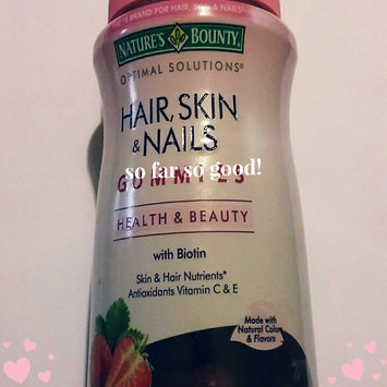 Photo of Nature's Bounty Optimal Solutions Hair, Skin & Nails Dietary Supplement Strawberry Flavored Gummies, 90 count uploaded by Carli J.