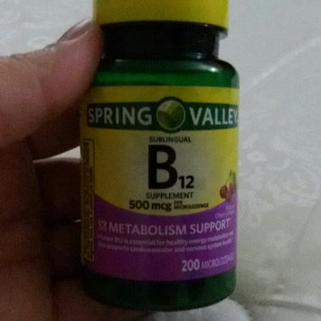 Photo of Spring Valley Vitamin B12 Sublingual 500 mcg uploaded by member-11d0b