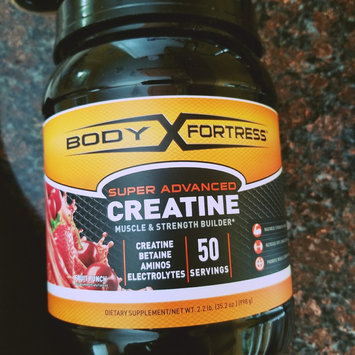 Photo of Body Fortress Super Advanced Creatine, Fruit Punch, 2.2 lb uploaded by Karla F.