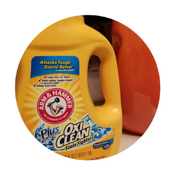 Photo of ARM & HAMMER™ Plus the Power of Oxi Clean Stain Fighters Concentrated Laundry Detergent Liquid uploaded by Annie G.