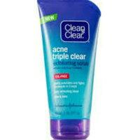 Clean & Clear® Acne Triple Clear Exfoliating Scrub 5 oz. Tube uploaded by Hajer z.