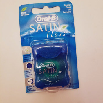 Photo of Oral-B Complete Satin Floss Mint 55 yd Carded Pack uploaded by Amber M.