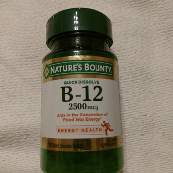 Photo of Natures Bounty Vitamin B-12 2500 mcg Quick Dissolve Tablets, Natural Cherry Flavor, 75 ea uploaded by Sharon K.