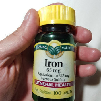 Photo of Spring Valley Iron 65Mg 100Ct  Iron 65 Mg Tablets Dietary Supplement 100 uploaded by Will A.