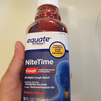 Photo of Equate Nitetime Cherry Flavor All Night Cough Relief, 12 fl oz uploaded by Will A.