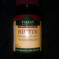 Finest Nutrition Biotin 1000 mcg Dietary Supplement Tablets uploaded by Chelsea C.