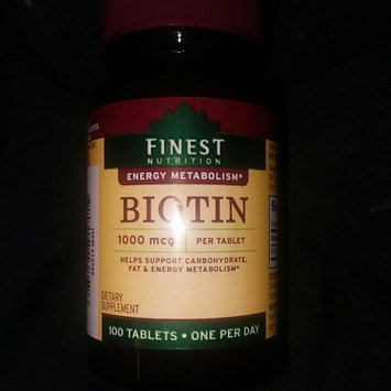 Photo of Finest Nutrition Biotin 1000 mcg Dietary Supplement Tablets uploaded by Chelsea C.