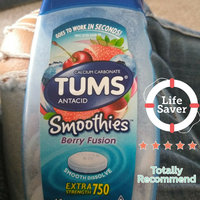 Tums Smoothies Extra Strength 750 Berry Fusion Antacid/Calcium Supplement Chewable Tablets - 60 CT uploaded by Donna C.