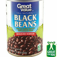Great Value Reduced Sodium Black Beans uploaded by January R.