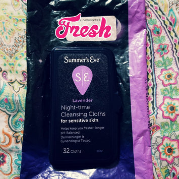 Photo of Summer's Eve® Lavender Night-time Cleansing Cloths for Sensitive Skin 32 ct Pouch uploaded by crystal g.