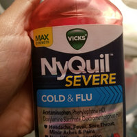 Vicks NyQuil Severe Cold & Flu Nighttime Relief Berry Flavor uploaded by Karla F.