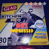 Glad ForceFlex Kitchen Pro Drawstring Trash Bags Fresh Clean 20 gal 80 ct, Black uploaded by Amanda Y.