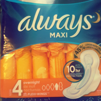 Photo of Always Maxi Size 5 Extra Heavy Overnight Pads with Wings Unscented uploaded by Shenee' M.