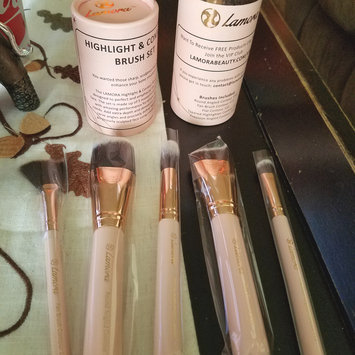 Photo of Foundation Brush Flat Top Kabuki for Face Makeup - Perfect For Blending Liquid uploaded by keren a.