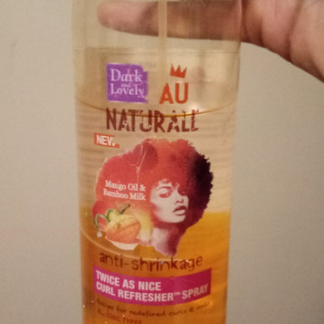 Photo of Dark and Lovely Au Naturale Twice as Nice Curl Refresher Spray, 8.5 Fluid Ounce uploaded by Dione P.