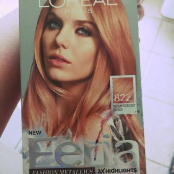 Photo of Feria Multi-Faceted Shimmering Colour Fashion Metallics 822 Medium Iridescent Blonde Hair Color 1 kt Box uploaded by Valerie H.