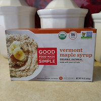 Good Food Made Simple Vermont Maple Syrup Oatmeal 16 oz uploaded by Ashley T.