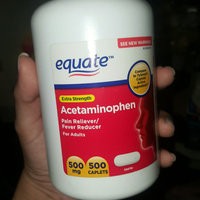 Equate Extra Strength Acetaminophen Pain Reliever/Fever Reducer Caplets, 500mg, 500 count uploaded by Mariana R.