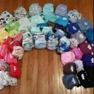 AppleCheeks Little Bundle Set Bamboo (Size 2, Forget Me Not) uploaded by Nicole C.