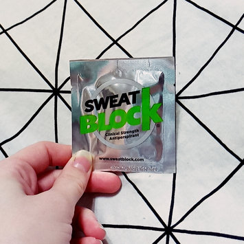 Photo of SweatBlock Antiperspirant - Clinical Strength - Reduce sweat up to 7-days per use (8 antiperspirant towelettes)per box uploaded by Jenessa S.