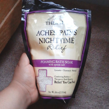 Photo of Village Naturals Therapy Aches+Pains Nighttime Relief Foaming Bath Soak with Epsom Salt, 36 oz uploaded by Andrea r.