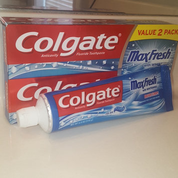Photo of Colgate® MaxFresh® with WHITENING MINI BREATH STRIPS Toothpaste Cool Mint uploaded by Mallory B.