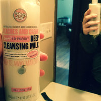 Soap & Glory Peaches & Clean 4-in-1 Wash Off Deep Cleansing Milk, Minty Peach, 16.2 oz uploaded by Shayna R.