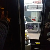 Samsung Refrigerator. 33 in. W 17.5 cu. ft. French Door Refrigerator in Black, Counter Depth RF18HFENBBC uploaded by crystal j.