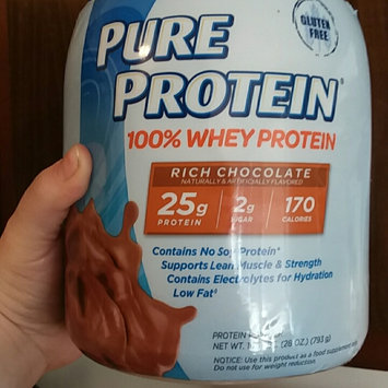 Photo of Pure Protein 100% Whey Protein Shake Powder Rich Chocolate uploaded by Emilee H.