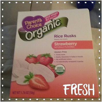 Photo of Parent's Choice Rice Rusks Apple Baked Rice Snacks, 12 count, 1.76 oz uploaded by Kristin K.