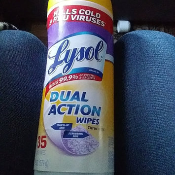 Photo of Lysol Dual Action Disinfecting Wipes uploaded by crystal j.