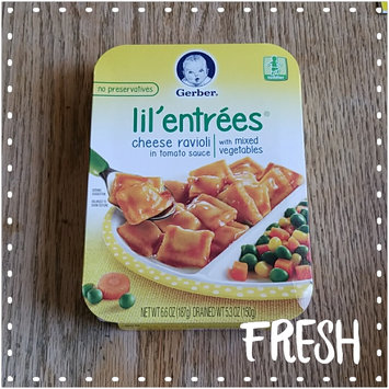 Photo of Gerber® Lil' Entrées® Cheese Ravioli In Tomato Sauce With Mixed Vegetables uploaded by Helen C.