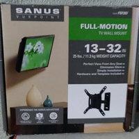 Sanus Full Motion Tiliting Wall for Small TVs 13
