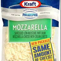 Kraft With a Touch of Philadelphia Mozzarella Shredded Cheese 8 oz uploaded by dana% L.