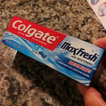Photo of Colgate® MaxFresh® with WHITENING MINI BREATH STRIPS Toothpaste Cool Mint uploaded by Dalila C.