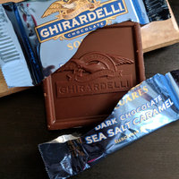 Ghirardelli Chocolate Dark Chocolate Sea Salt Caramel Square uploaded by Fweezii A.