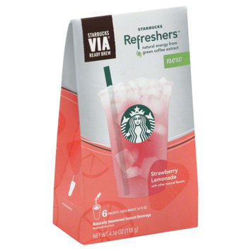 Photo of STARBUCKS® Refreshers® Strawberry Acai Lemonade VIA® Ready Brew uploaded by dana% L.
