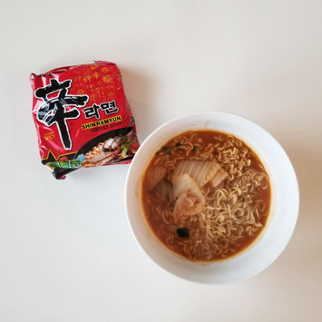 Photo of Nongshim Shin Ramyun Noodle Soup, 4.2 oz, 10 count uploaded by Vicky T.