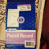 Adams D4743 Employee Payroll Record Book 2-part 4.19x7.19 55 ST per BK uploaded by Adele L.