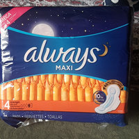 Always Maxi Size 4 Overnight Pads with Wings Unscented uploaded by nazi K.