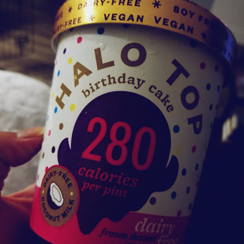 Photo of Halo Top Birthday Cake Ice Cream uploaded by Andrea M.