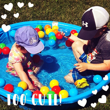 Photo of American Creative Team, Inc. 200 Wonder Non-Toxic Crush-Proof Phthalate Free Play Ball Set with Toss Zone Game uploaded by Kristina E.